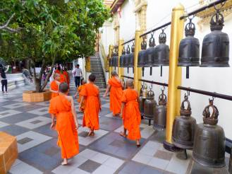 Kindermönche am Wat Phra That Doi Suthep