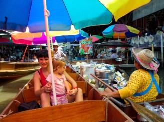 Schwimmender Markt in Ratchaburi