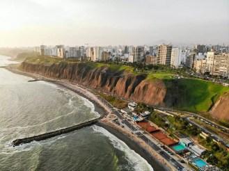 Küste Miraflores Lima Drohnenaufnahme