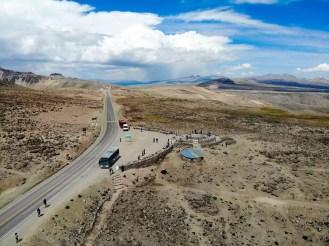 Mirrador de los Andes (Patapampa Pass) aus der Luft