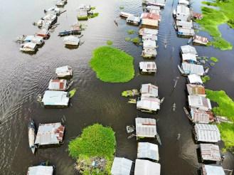 Schwimmende Häuser in Belen, Iquitos