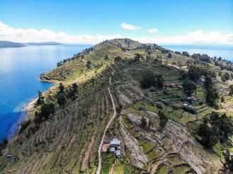 Taquile Insel aus der Luft