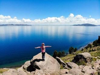 Titicacasee von Taquile Island