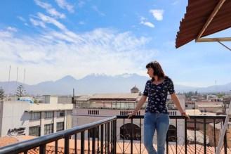 Aussicht von der Dachterrasse im Le Foyer Hostel