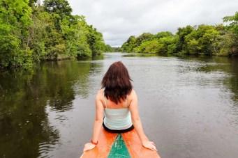Bootsfahrt im Dschungel in Peru