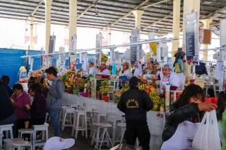 Smoothie Stände auf dem San Pedro Markt in Cusco
