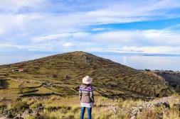 Blick auf Pachatata Tempel vom Pachamama