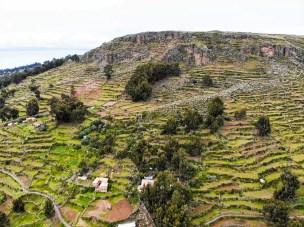 Prä-Inka Terrassen auf Amantani Insel