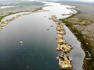 Titicacasee Schwimmende Inseln