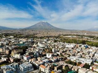 Vulkan Misti aus Arequipa