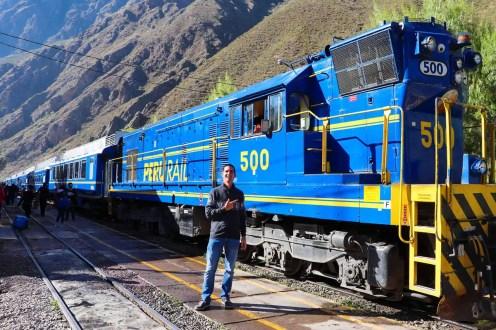 Unser Zug von Ollantaytambo nach Aguas Calientes