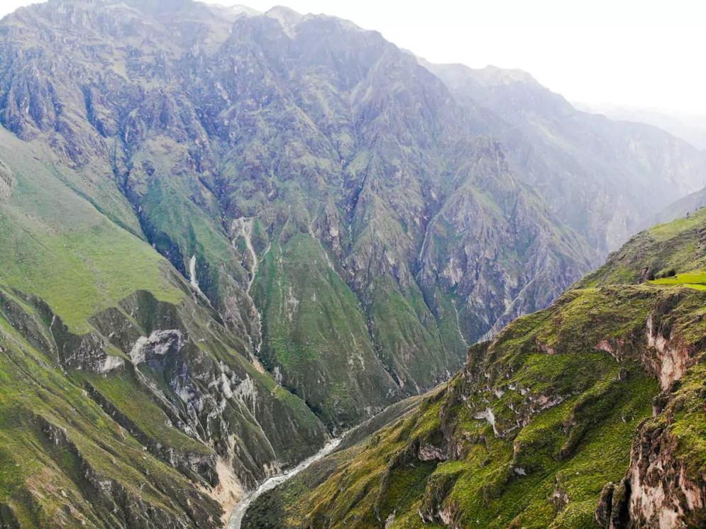 Blick auf den Colca-Canyon von dem Restaurant