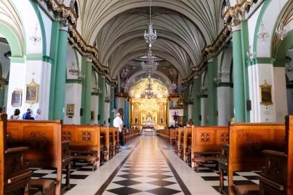 Kircheninnere Basilika und Kloster Santo Domingo Lima