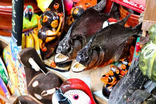Piranha Souvenier Belen Markt