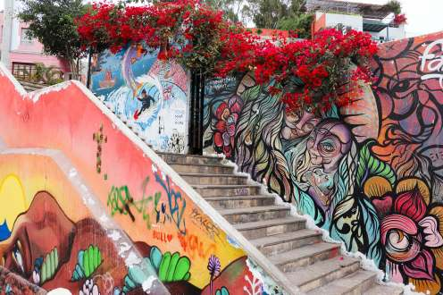 Graffiti in Oroya, Barranco