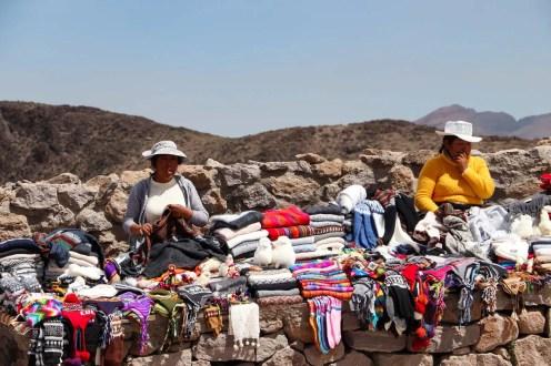 Verkäufer am Mirador de los Andes