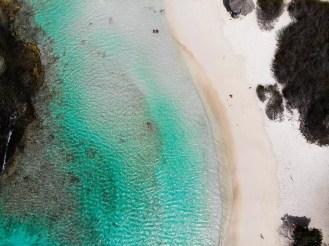 Auf dem Baby Beach Aruba
