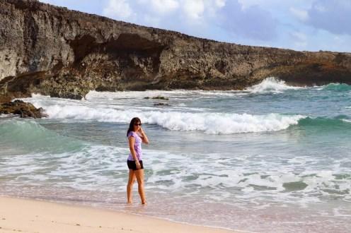 Auf der Boca Prins Beach