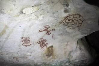 Felsmalerein in der Fontein Höhle