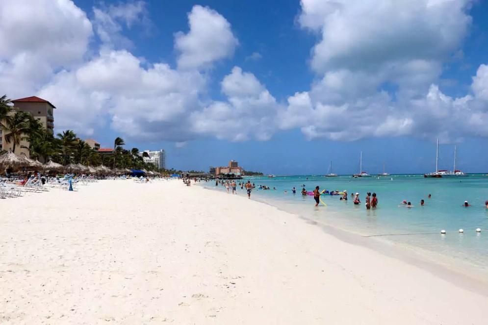 Palm Beach auf Aruba