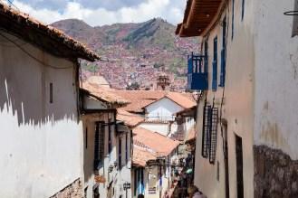 Aussicht auf Cusco von San Blas