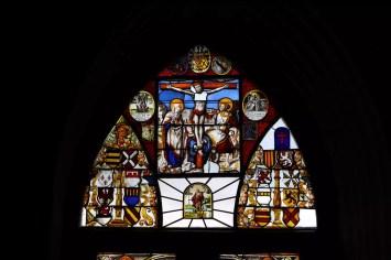 Bleiglasfenster Kapelle Burg Rheinstein