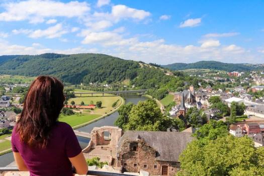 Aussicht von der Burg Saarburg