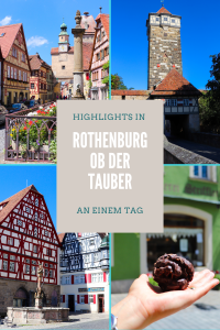 Rothenburg ob der Tauber Highlights