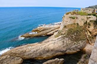 Aussicht aufs Meer von der Altstadt von Ulcinj