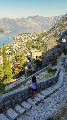 Aussicht auf die Bucht von Kotor aus der Festung