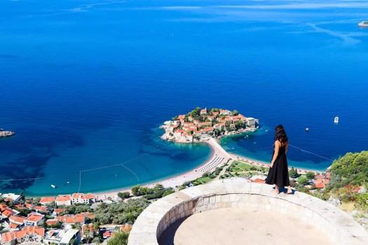 Aussichtspunkt St. Sava Sveti Stefan