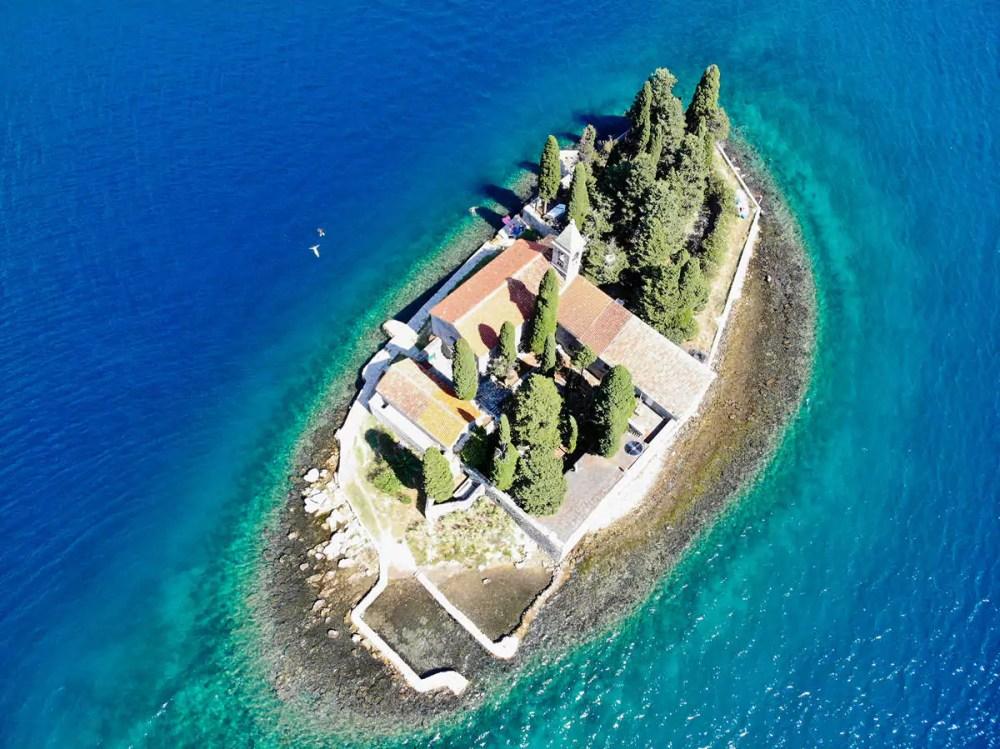 Insel Sveti Đorđe in der Bucht von Kotor