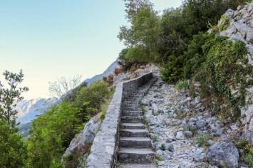 Treppe Festung Kotor