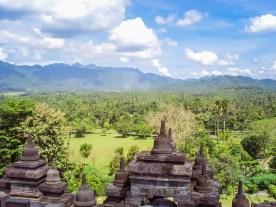 Aussicht Borobudur