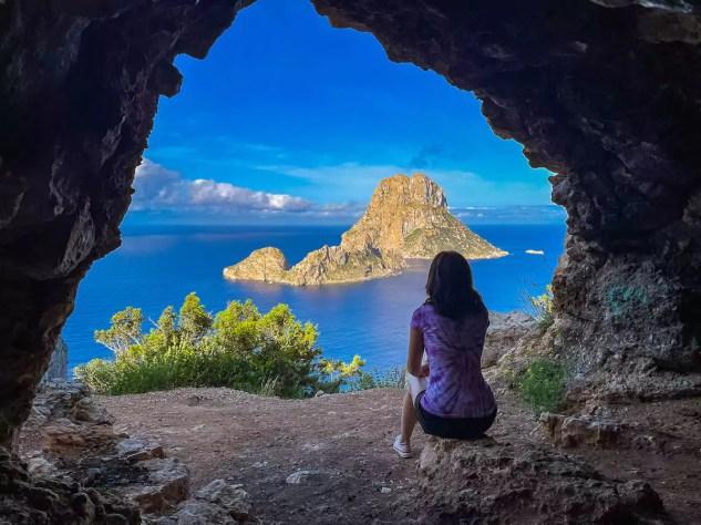Aussicht Hippiehöhle Ibiza
