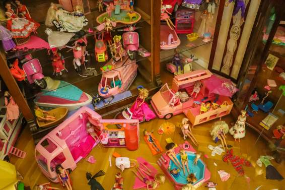 Barbie-Puppen im Spielzeugmuseum Keszthely