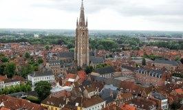 Aerial view of Bruges