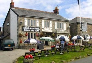 Award winning Blisland Inn, Cornwall