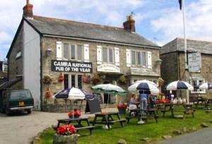 Award winning Blisland Inn, Cornwall