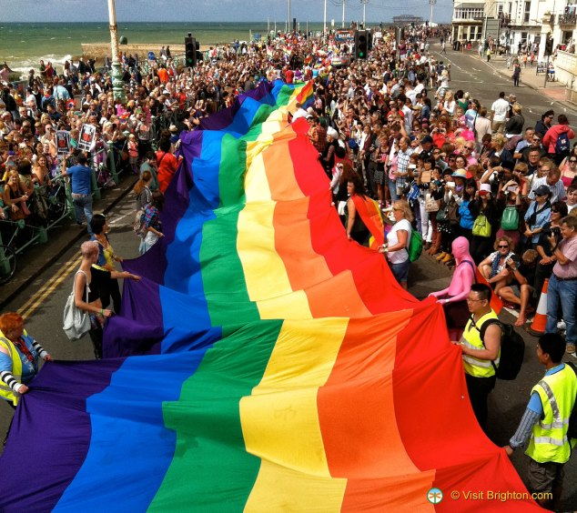 Gay Pride at the Brighton parade
