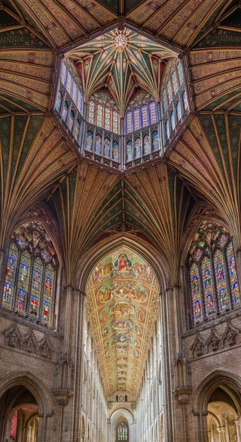 The Lantern viewed from the octagon with the nave ceiling in the background in Ely Cathedral Photo by DAVID ILIFF
