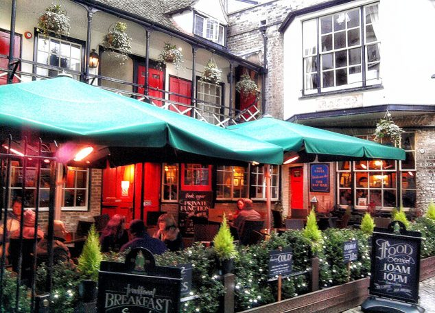 The Eagle Pub in Cambridge, where Crick and Watson discussed DNA's double helix
