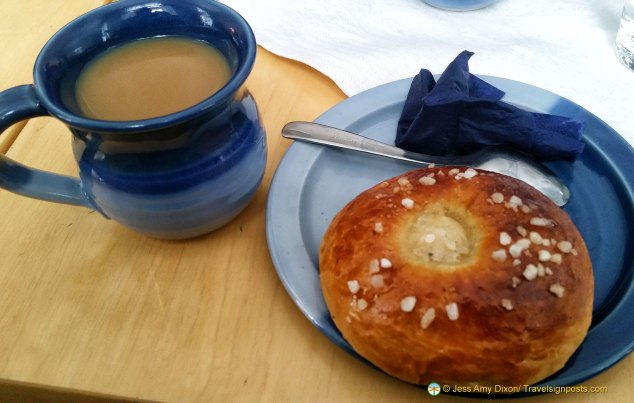 Cardamom bun and coffee