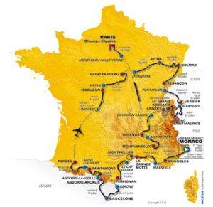 Tour de France route