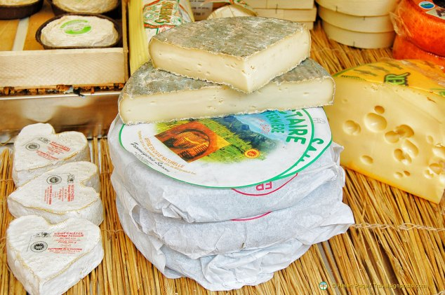 Various French cheeses
