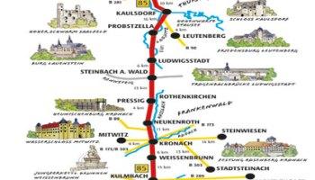 Castle Road Burgenstrasse German Castles Touring Germany - Germany map romantic road