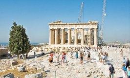 The Parthenon built for the goddess Athena on Athens' Acropolis