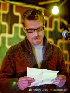 "Brian O'Driscoll reads his poems ""It's the OCD, Not Me"" and ""Old Timers' Disease"" at an event in Dublin."