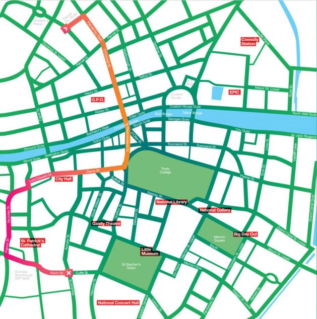 St Patrick's Day Parade Route