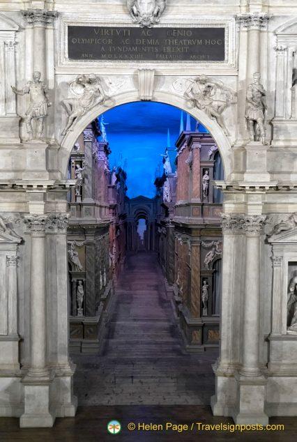 Teatro Olimpico's famous perspective view